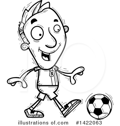Male Soccer Player Clipart #1422063 by Cory Thoman