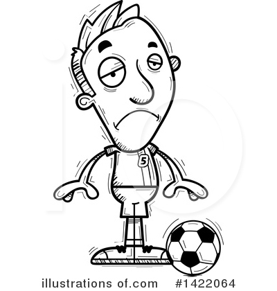 Male Soccer Player Clipart #1422064 by Cory Thoman