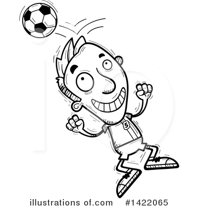 Male Soccer Player Clipart #1422065 by Cory Thoman