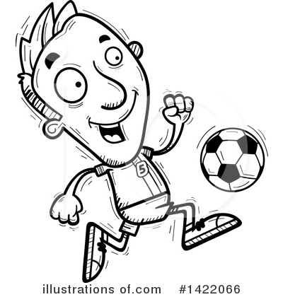 Male Soccer Player Clipart #1422066 by Cory Thoman