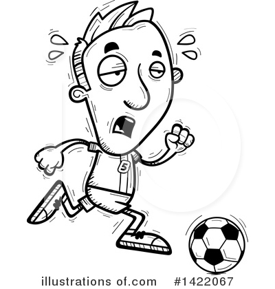 Male Soccer Player Clipart #1422067 by Cory Thoman
