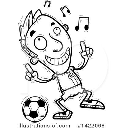 Male Soccer Player Clipart #1422068 by Cory Thoman