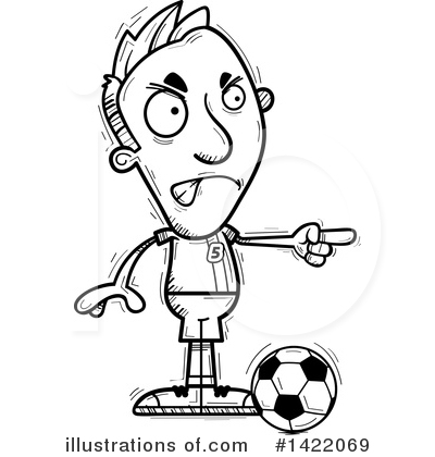 Male Soccer Player Clipart #1422069 by Cory Thoman