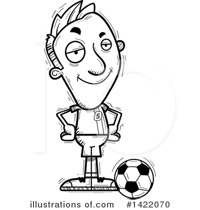 Male Soccer Player Clipart #1422070 by Cory Thoman