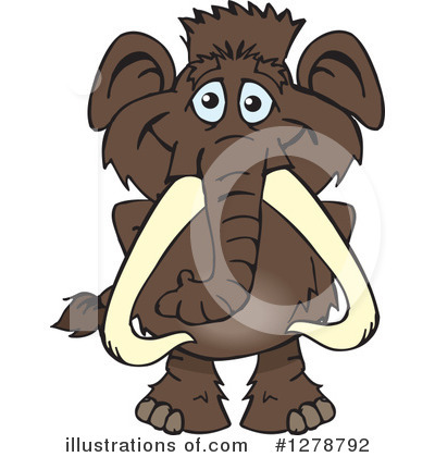 Mammoth Clipart #1278792 by Dennis Holmes Designs