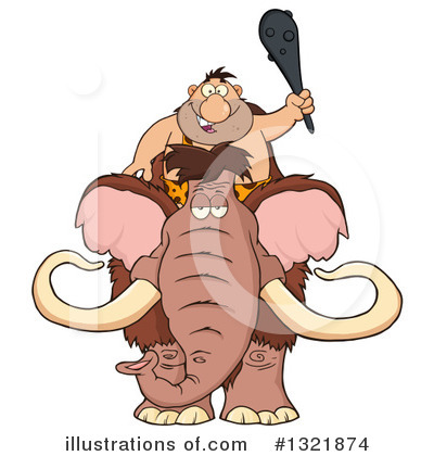 Woolly Mammoth Clipart #1321874 by Hit Toon