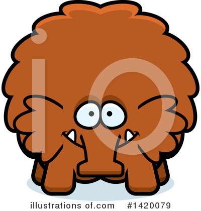 Woolly Mammoth Clipart #1420079 by Cory Thoman