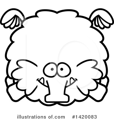 Mammoth Clipart #1420083 by Cory Thoman