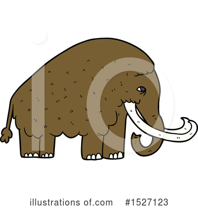 Woolly Mammoth Clipart #1527123 by lineartestpilot