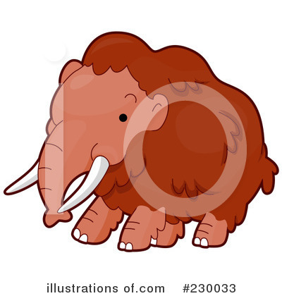 Mammoth Clipart #230033 by BNP Design Studio