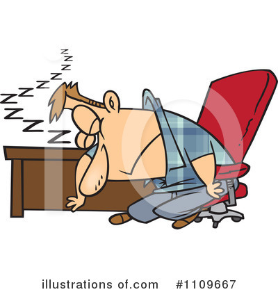 Tired Clipart #1109667 by toonaday