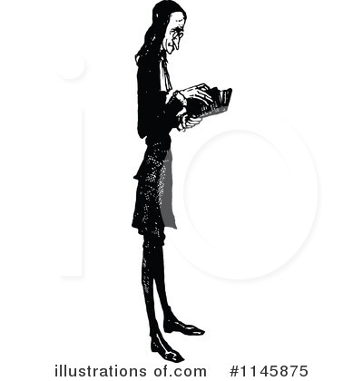 Reading Clipart #1145875 by Prawny Vintage