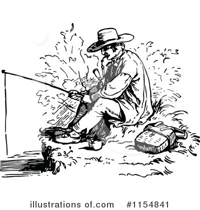 Fishing Clipart #1154841 by Prawny Vintage