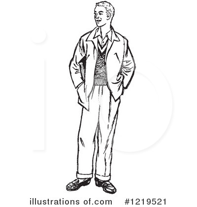 Royalty-Free (RF) Man Clipart Illustration by Picsburg - Stock Sample #1219521