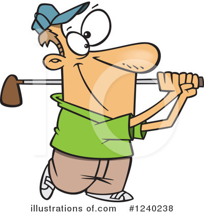 Golfing Clipart #1240238 by toonaday