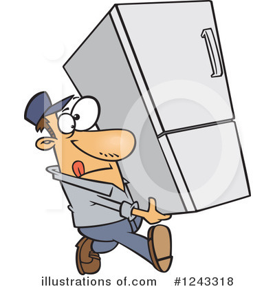 Delivery Man Clipart #1243318 by toonaday