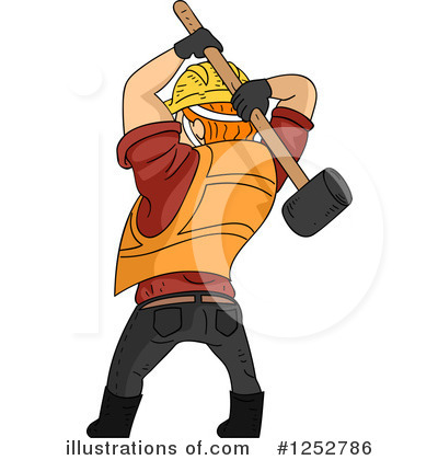 Construction Worker Clipart #1252786 by BNP Design Studio