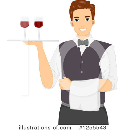 Waiter Clipart #1255543 by BNP Design Studio