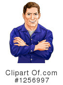 Royalty-Free (RF) Man Clipart Illustration #1256997