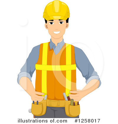 Construction Worker Clipart #1258017 by BNP Design Studio