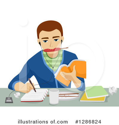 Homework Clipart #1286824 by BNP Design Studio