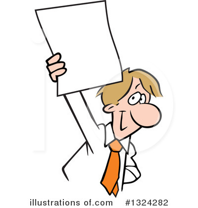 Businessman Clipart #1324282 by Johnny Sajem