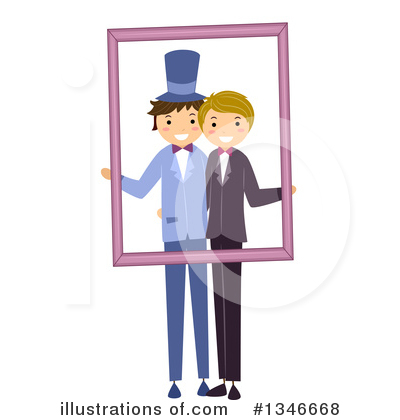 Gay Couple Clipart #1346668 by BNP Design Studio