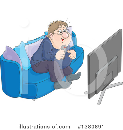 Tv Clipart #1380891 by Alex Bannykh
