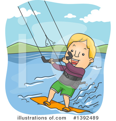 Surfer Clipart #1392489 by BNP Design Studio