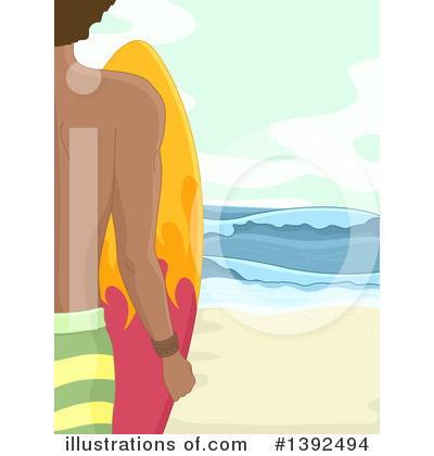 Surfer Clipart #1392494 by BNP Design Studio
