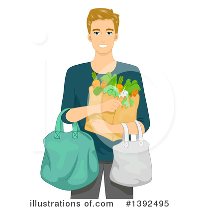 Shopping Bags Clipart #1392495 by BNP Design Studio
