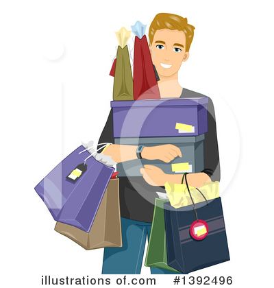 Shopping Bags Clipart #1392496 by BNP Design Studio