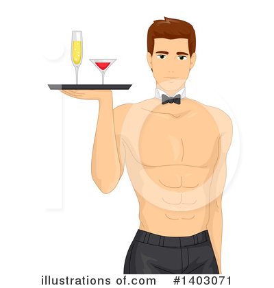 Waiter Clipart #1403071 by BNP Design Studio
