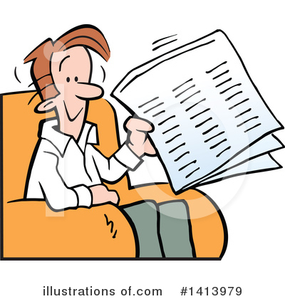 Newspaper Clipart #1413979 by Johnny Sajem