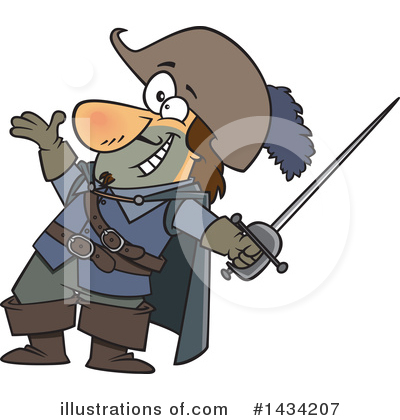 Musketeer Clipart #1434207 by toonaday