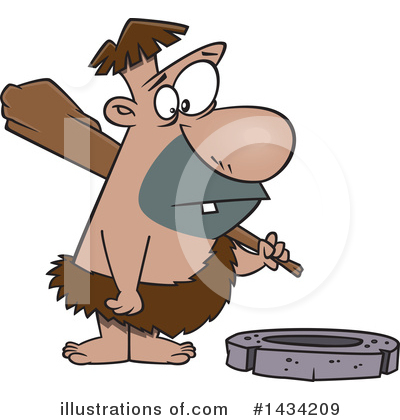 Caveman Clipart #1434209 by toonaday