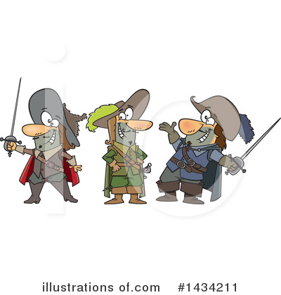 Musketeer Clipart #1434211 by toonaday