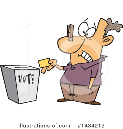 Voting Clipart #1434212 by toonaday