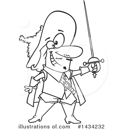 Musketeer Clipart #1434232 by toonaday