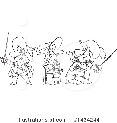 Musketeer Clipart #1434244 by toonaday