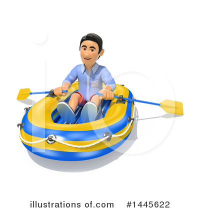 Raft Clipart #1445622 by Texelart