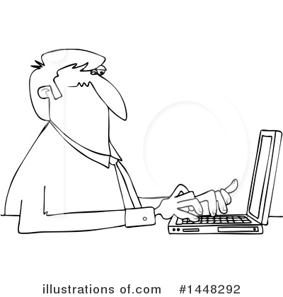 Typing Clipart #1448292 by djart