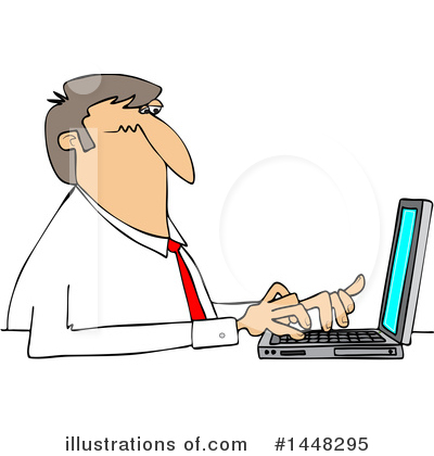 Typing Clipart #1448295 by djart