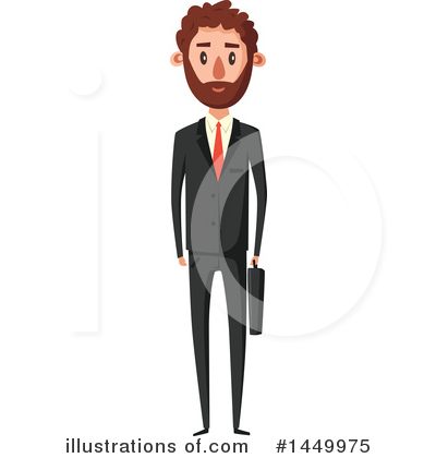 Businessman Clipart #1449975 by Vector Tradition SM