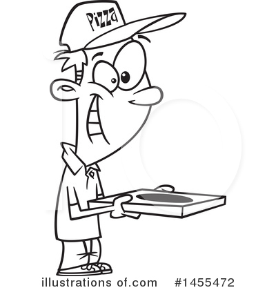 Pizza Delivery Clipart #1455472 by toonaday