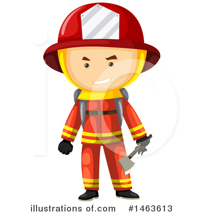 Fireman Clipart #1463613 by Graphics RF