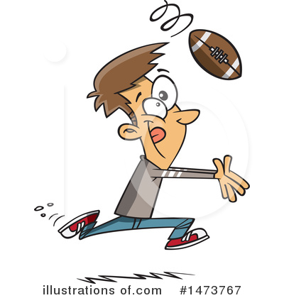 Football Player Clipart #1473767 by toonaday