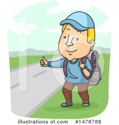 Hitchhiker Clipart #1478788 by BNP Design Studio