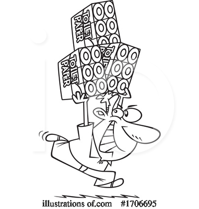 Royalty-Free (RF) Man Clipart Illustration by toonaday - Stock Sample #1706695