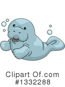 Royalty-Free (RF) Manatee Clipart Illustration #1332288